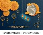 chinese mid autumn festival... | Shutterstock .eps vector #1439240009