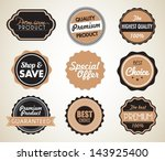 set of vector badges | Shutterstock .eps vector #143925400