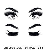fashion illustration of the... | Shutterstock .eps vector #1439254133