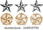 distressed western stars design ... | Shutterstock .eps vector #143925790