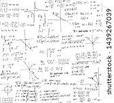mathematics solutions. seamless ... | Shutterstock .eps vector #1439267039