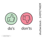 do's and don'ts icon  like ...   Shutterstock .eps vector #1439274839