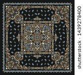 vector ornament paisley bandana ... | Shutterstock .eps vector #1439278400