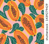 colorful and juicy hand drawn...   Shutterstock .eps vector #1439279429