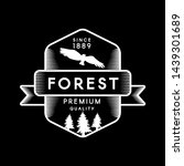 forest negative space logo.... | Shutterstock .eps vector #1439301689