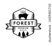 wild forest outline vector logo ... | Shutterstock .eps vector #1439301710