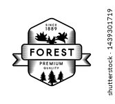 forest outline vector logo... | Shutterstock .eps vector #1439301719