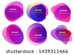 abstract blur shapes red color... | Shutterstock .eps vector #1439311466