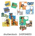cartoon comic set | Shutterstock .eps vector #143934853