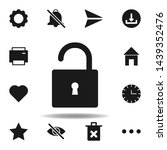 user website unlock icon. set...
