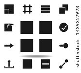 user layout grid icon. set of...