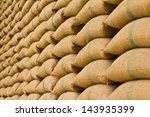 Old Hemp Sacks Containing Rice...