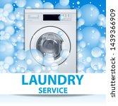 laundry service banner or... | Shutterstock .eps vector #1439366909