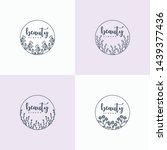 hand drawn floral ornament... | Shutterstock .eps vector #1439377436