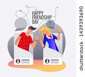 happy friendship day. vector...   Shutterstock .eps vector #1439393690