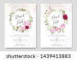 beautiful wedding invitation... | Shutterstock .eps vector #1439413883