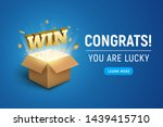 gift prize box lottery win text.... | Shutterstock .eps vector #1439415710