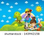 children   creative in the park ... | Shutterstock . vector #143942158