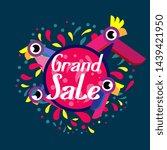 grand sale  beautiful greeting... | Shutterstock .eps vector #1439421950
