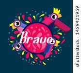 bravo has mean congrats ... | Shutterstock .eps vector #1439421959