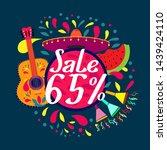 sale 65   beautiful greeting... | Shutterstock .eps vector #1439424110