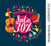 sale 30   beautiful greeting... | Shutterstock .eps vector #1439424113
