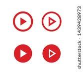 play button vector set. media... | Shutterstock .eps vector #1439428973