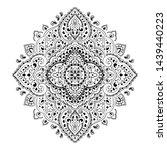 indian rug tribal ornament... | Shutterstock .eps vector #1439440223