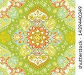 indian rug tribal ornament... | Shutterstock .eps vector #1439440349