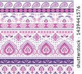 indian rug tribal ornament... | Shutterstock .eps vector #1439441576