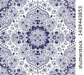 indian rug tribal ornament... | Shutterstock .eps vector #1439443853