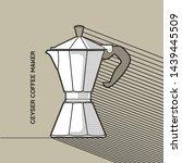 geyser coffee maker line icon.... | Shutterstock .eps vector #1439445509