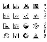 charts and graphs icons set on... | Shutterstock .eps vector #143944720