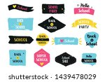 back to school vector badge set.... | Shutterstock .eps vector #1439478029