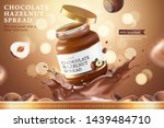 chocolate hazelnut spread ads... | Shutterstock .eps vector #1439484710