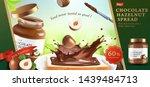 chocolate hazelnut spread ads... | Shutterstock .eps vector #1439484713