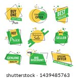 collection of sale discount... | Shutterstock .eps vector #1439485763