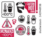 caution hot sign. hot coffee. | Shutterstock .eps vector #143948938