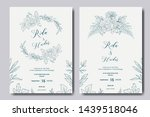 hand drawn floral wedding... | Shutterstock .eps vector #1439518046