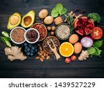 ingredients for the healthy... | Shutterstock . vector #1439527229