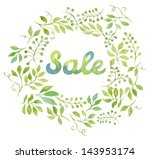 colorful sale text in... | Shutterstock . vector #143953174
