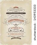 vintage invitation poster ... | Shutterstock .eps vector #143953333