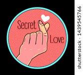 cartoon hand gesture vector... | Shutterstock .eps vector #1439545766