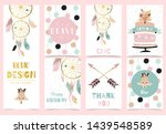 Collection Of Boho Cards Set...