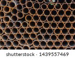 rusty metal iron pipes ... | Shutterstock . vector #1439557469