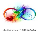 artistically drawn infinity... | Shutterstock . vector #1439566646