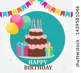 happy birthday card party...   Shutterstock .eps vector #1439581046