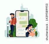 social media concept...   Shutterstock .eps vector #1439589953