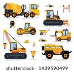 engineering vehicle  side view... | Shutterstock .eps vector #1439590499
