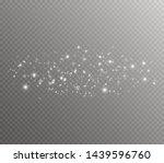 white sparks and golden stars... | Shutterstock .eps vector #1439596760